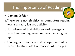 significance of reading