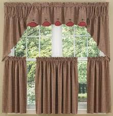Country Porch Curtains Place Lined Window Curtain Swag
