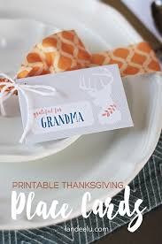 printable thanksgiving place cards eighteen25