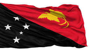 New Guinea Flag Waving National Flag Of Papua New Guinea Motion Background