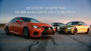 lexus rc f vs the bmw m4 competitive review lexus rc f vs bmw m4 and audi rs 5 on vimeo