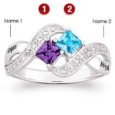mothers rings with 2 stones lover s romp sterling silver promise ring rings silver
