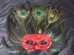 masquerade mask bulk bulk lot 12 x peacock feather masquerade mask party costume