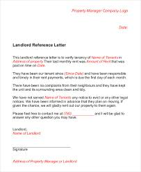 landlord reference letter 5 free sample example format free