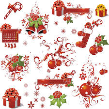 red christmas ornaments vector vector graphics blog