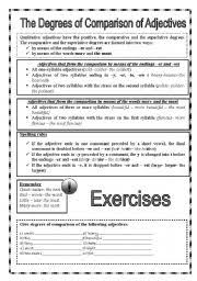 best solutions of degrees of adjectives worksheets for grade 6
