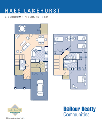 Duplex Floor Plans 3 Bedroom by Jb Lakehurst U2013 Pinehurst Estates 3 Bedroom Townhouse Floor Plan