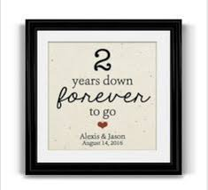 2nd anniversary gift ideas for husband 2 years together cotton anniversary print 2nd anniversary