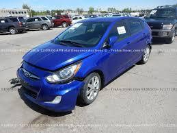 2012 hyundai accent gls for sale kmhcu5ae7cu001874 2012 blue hyundai accent gls on sale in co