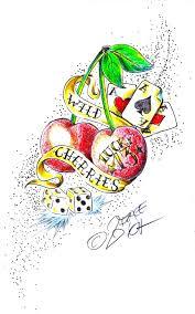 cherry tattoo by roxhell on deviantart
