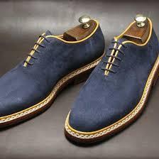 handmade men navy blue suede dress shoes mens suede shoes mens