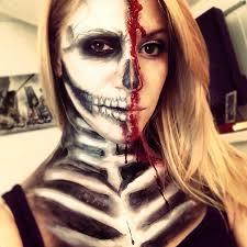 half skull halloween mask make up tutorial u2013 alexa katherine