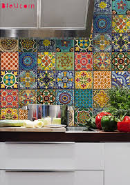 Kitchen Backsplash Decals by Bleucoin No 21 Mexican Talavera Tile Wall Stair Floor