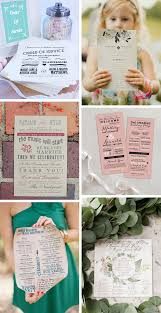 Booklet Wedding Programs 24 Wedding Program And Ceremony Booklet Ideas Onefabday Com
