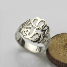 Monogram Rings Silver Online Shop Wholesale Sterling Silver Monogram Ring Cut Out