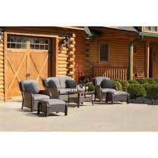 Deep Seating Patio Set Clearance Resin Wicker 6 Piece Patio Conversation Set Free Shipping Today