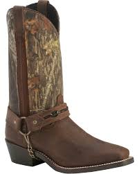 laredo mossy oak barbed wire harness boots square toe sheplers