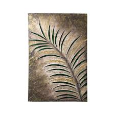 tropical leaves printed on linen canvas wall art