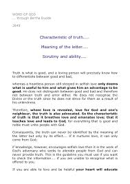 2849 characteristic of truth meaning of the letter scrutiny u2026
