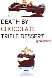 death by chocolate trifle dessert recipe cdkitchen com
