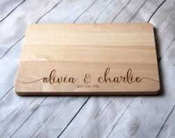 wedding cutting board chopping board etsy
