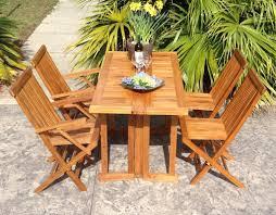 chicteak hatteras folding dining table u0026 reviews wayfair
