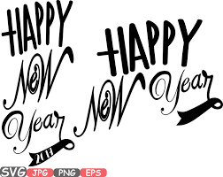 champagne silhouette happy new year svg silhouette champagne cheers 2017 printable