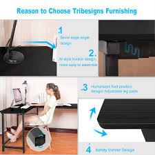 amazon com tribesigns modern l shaped desk corner computer desk