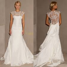 wedding dress lace back and sleeves lace wedding dress with sleeves and open back izzw dresses trend