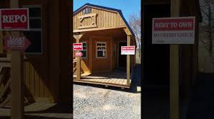 Derksen Portable Finished Cabins At Enterprise Center Youtube 12x28 Lofted Deluxe Playhouse Repo Youtube
