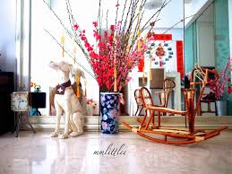 Cny Home Decor New Year Decorations Flower Arrangements And Paper Crafts