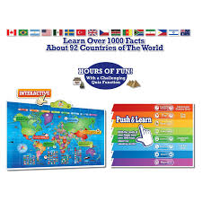 World Map Interactive by Amazon Com Push To Talk Kids World Map Learn Over 1000 Facts