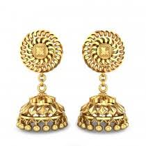 gold jhumka earrings buy gold jhumkas online in india shop online gold earings