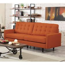coaster kesson mid century modern sofa in orange 505371