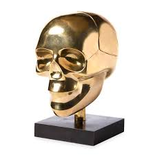 brass skull box modern decor jonathan adler