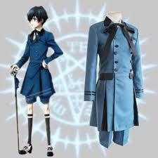 Trench Coat Halloween Costume Kuroshitsuji Black Butler Ciel Phantomhive Cosplay Costume Double