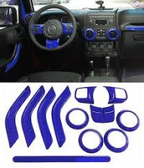 Jeep Interior Replacement Parts 12 Pcs Purple Interior Decoration Trim Kit For Jeep Wrangler 4