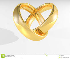 Gold Wedding Rings by Heart Gold Wedding Rings Royalty Free Stock Photo Image 17424525