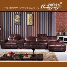 Genuine Leather Reclining Sofa China Genuine Leather Recliner Sofa With Storage Table 625