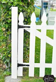 diy white picket fence gate hometalk