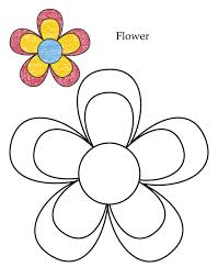 flower coloring page april pinterest flower craft and