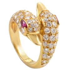 piaget ring piaget ruby diamond gold swans ring at 1stdibs