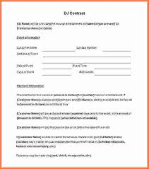 dj contract template contract employee agreement template 8