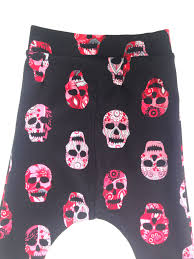 harem baby toddler pink sugar skull print with comfortable