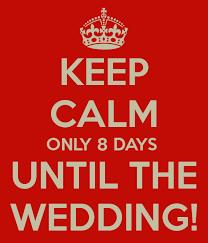wedding countdown for bridgette s wedding day countdown 8 days left