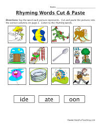 rhyming worksheets have fun teaching