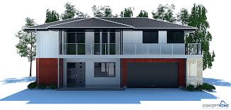 modern home plan modern house plan with large balcony