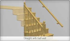 Replace Banister With Half Wall Alexandria Moulding Stair Parts Configurator