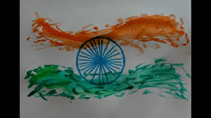how to draw painting of indian flag for kids independence day
