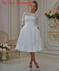 sheer lace short styles wedding dress half sleeves scoop corset